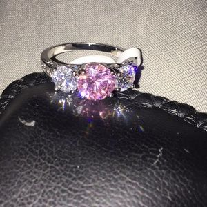 White Gold Filled Size 9 Ring